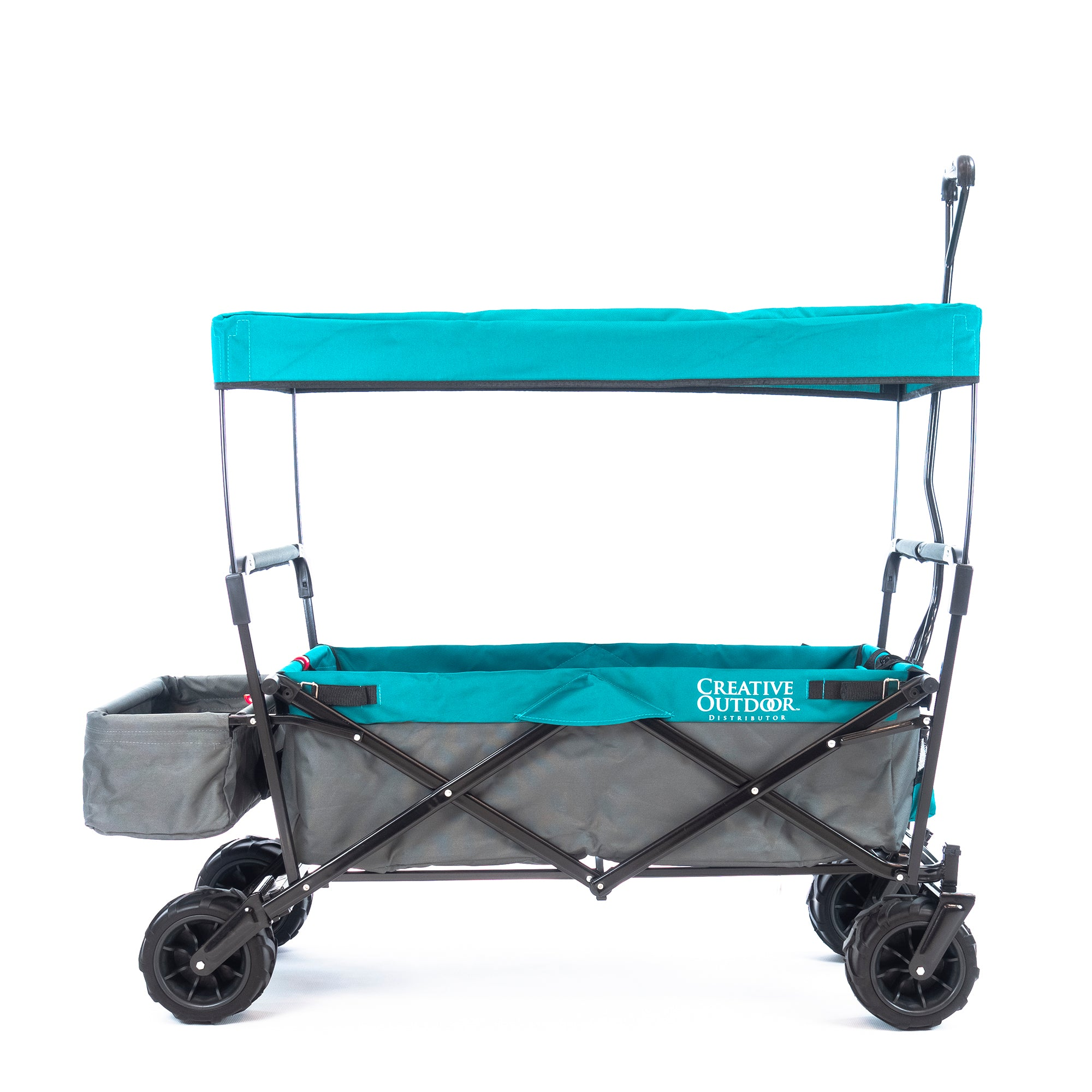 All-Terrain Folding Wagon with Canopy | Gray Teal
