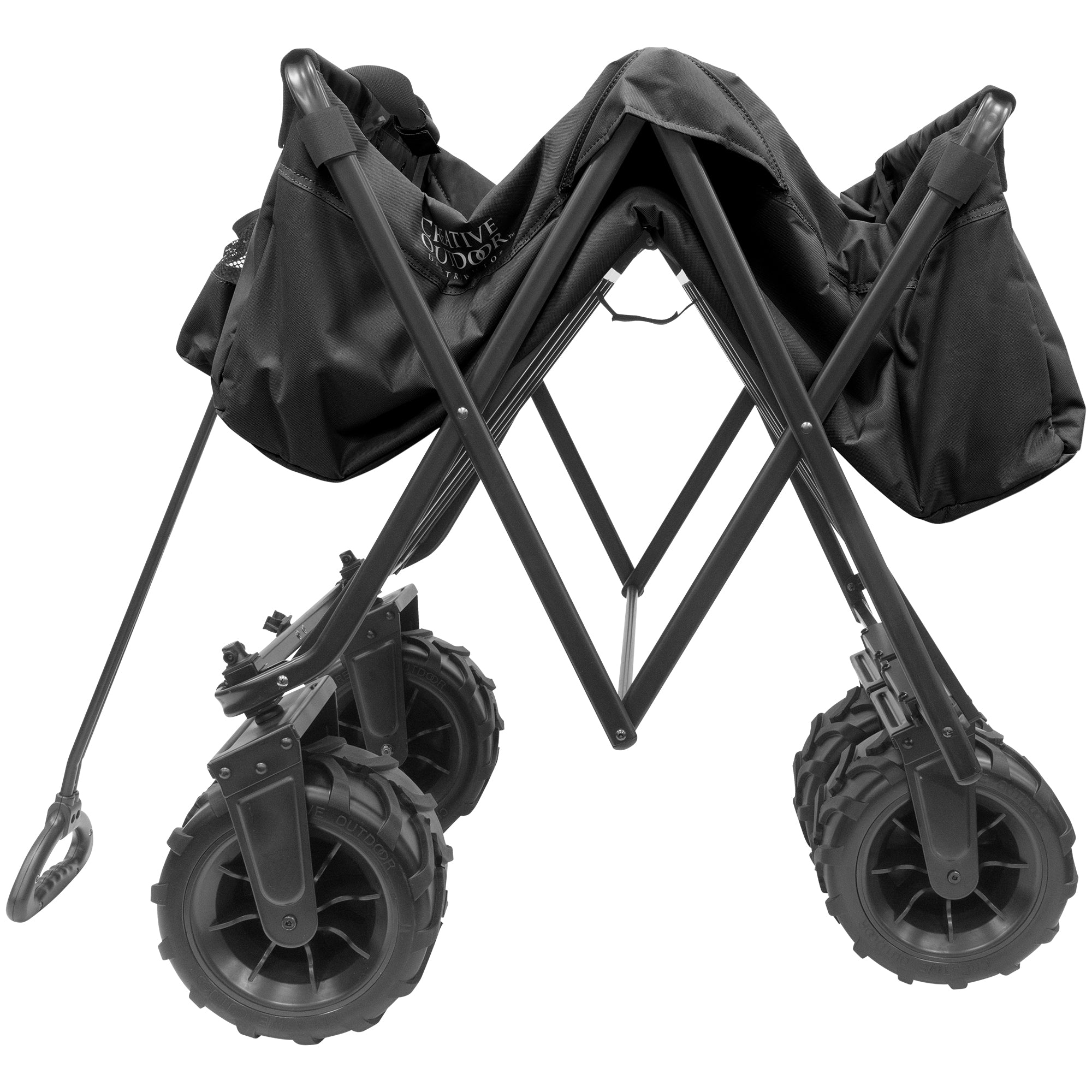 XXXL Monster Folding Wagon Black Folding
