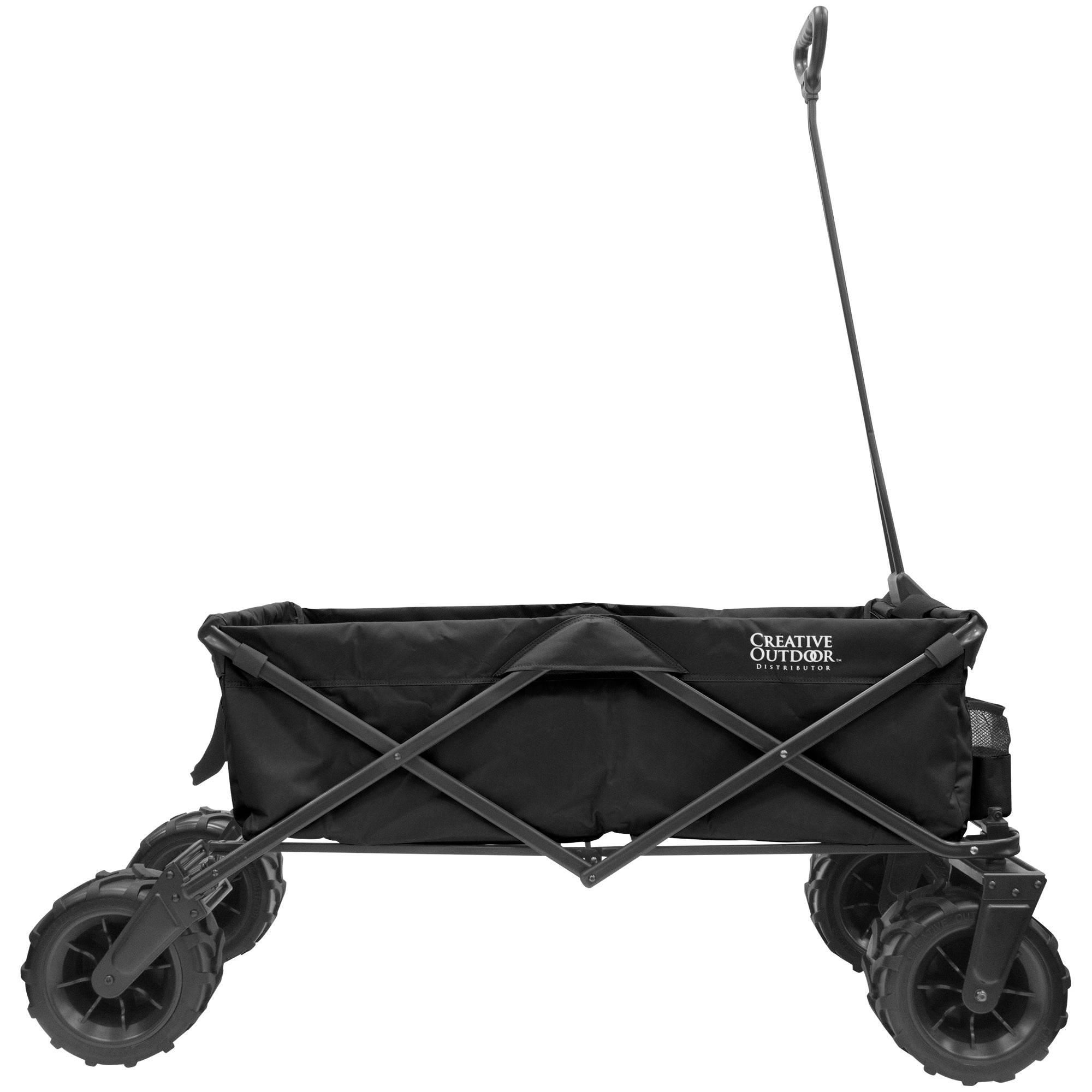 XXXL Monster Folding Wagon Black Sideview