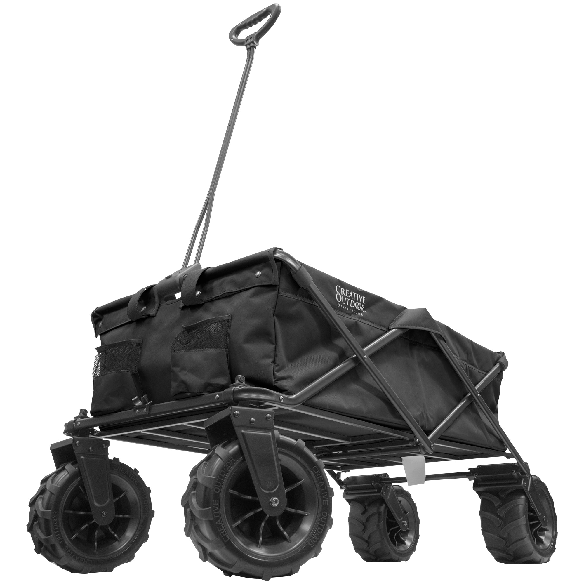 XXXL Monster Folding Wagon Black