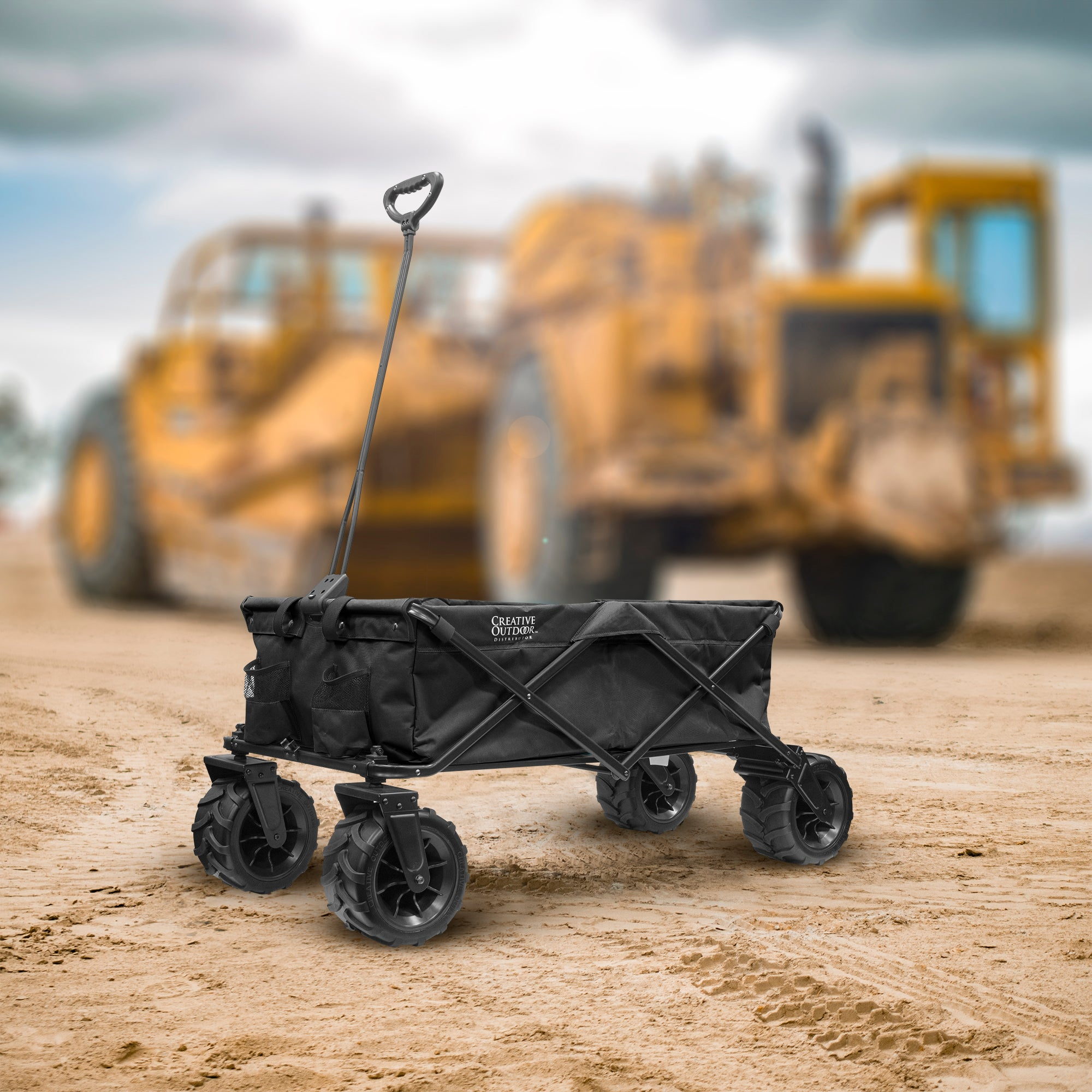 XXXL Monster Folding Wagon Black Lifestyle