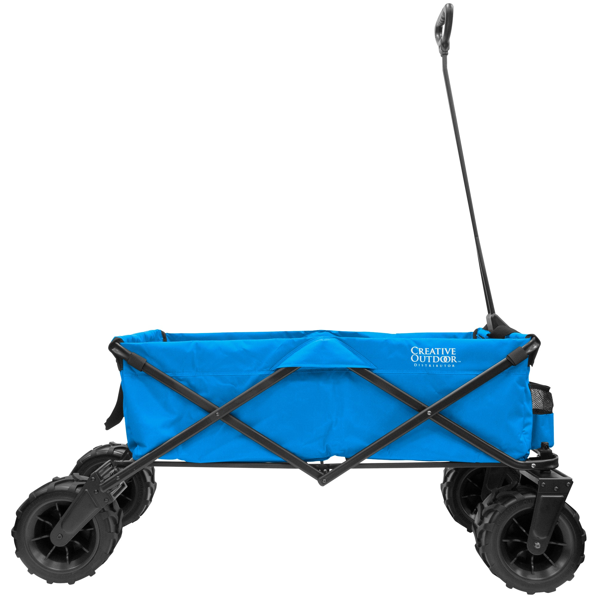XXXL Monster Folding Wagon Blue Side View