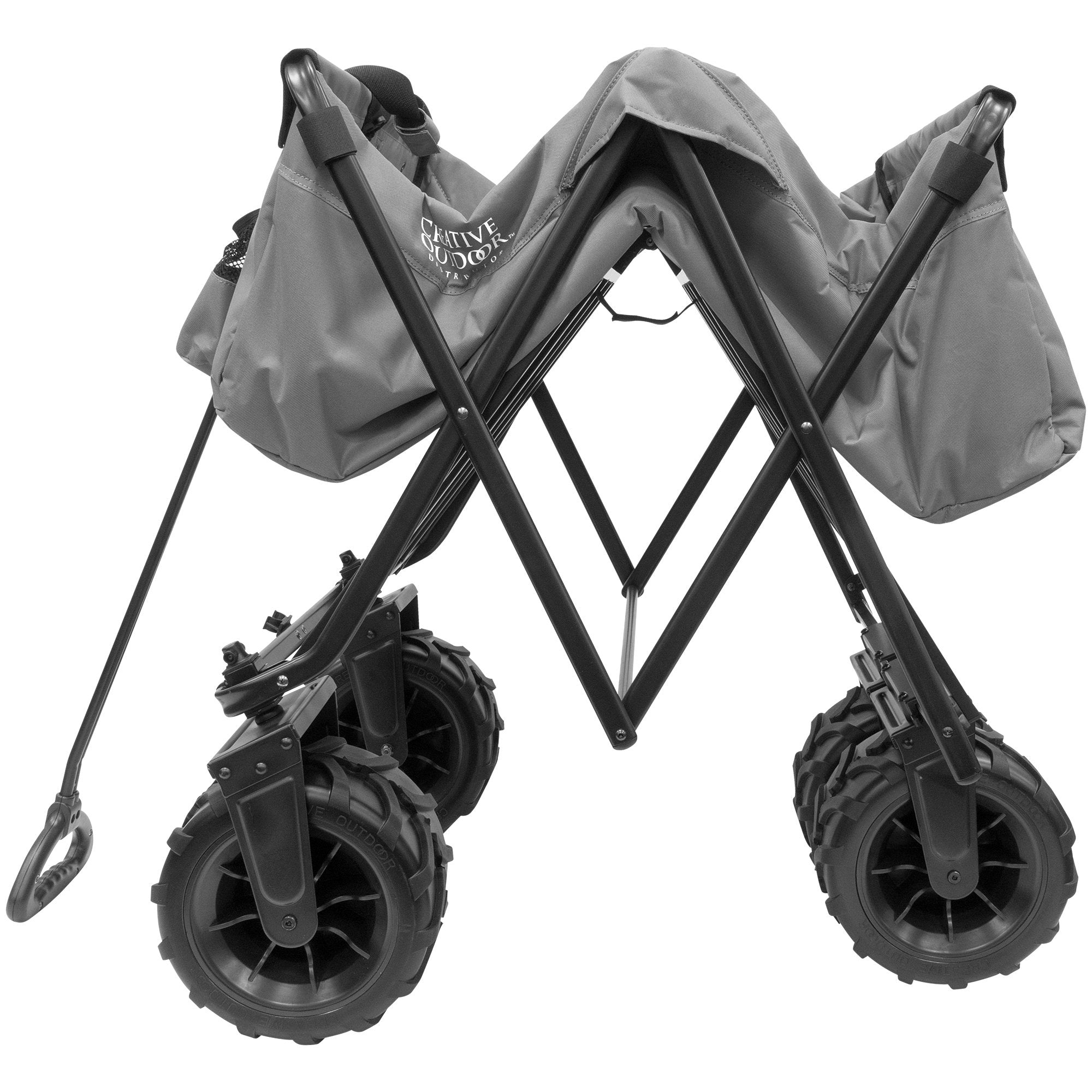 XXXL Monster Folding Wagon Gray Folding