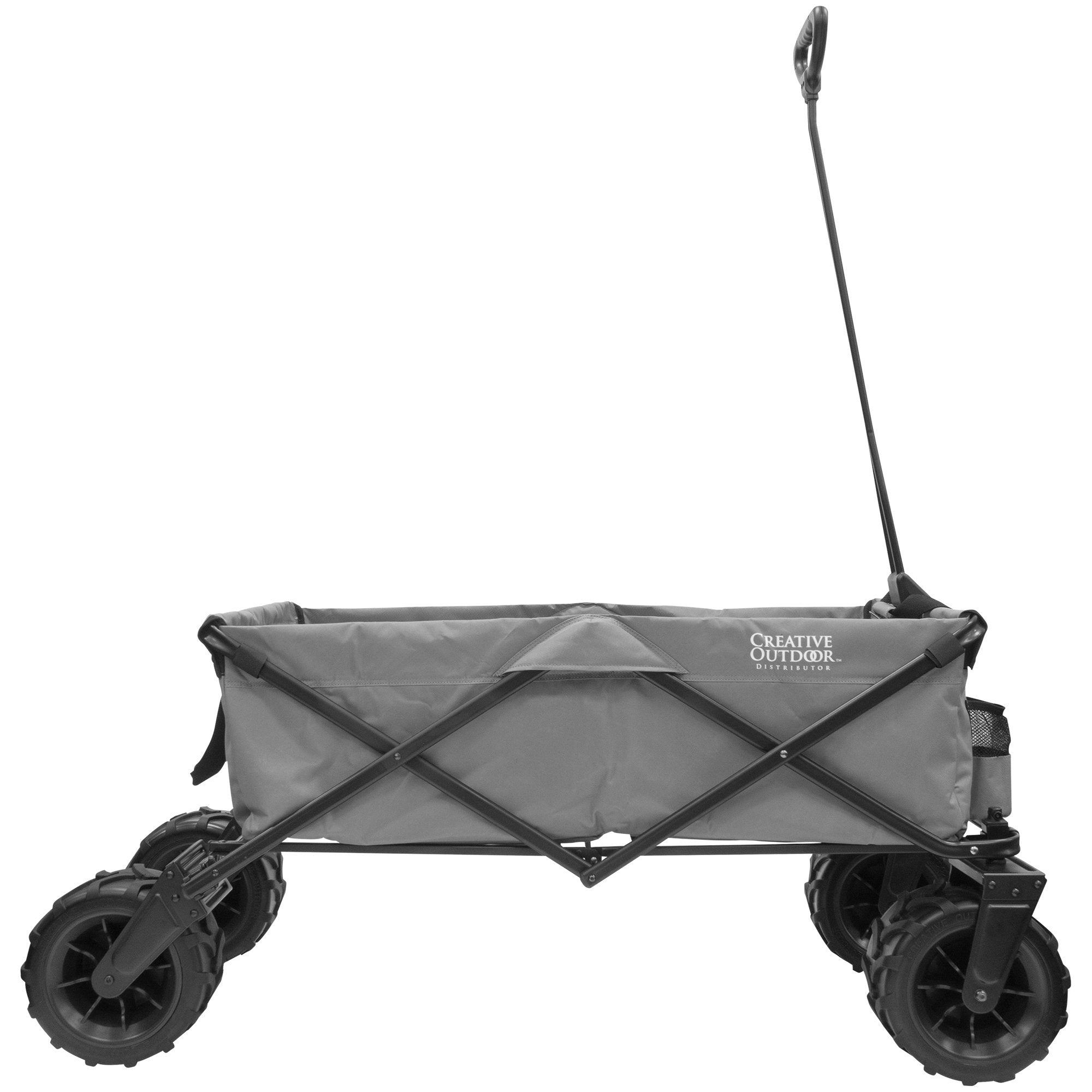 XXXL Monster Folding Wagon Gray Sideview