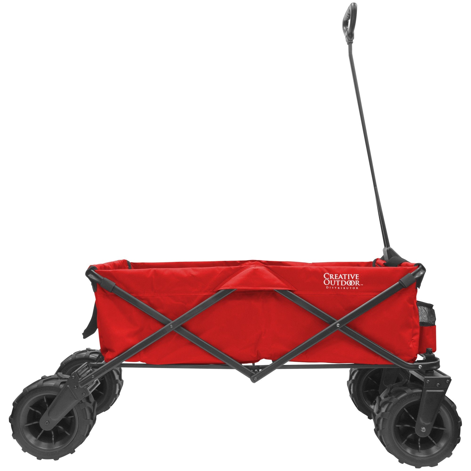 XXXL Monster Folding Wagon Red Side View