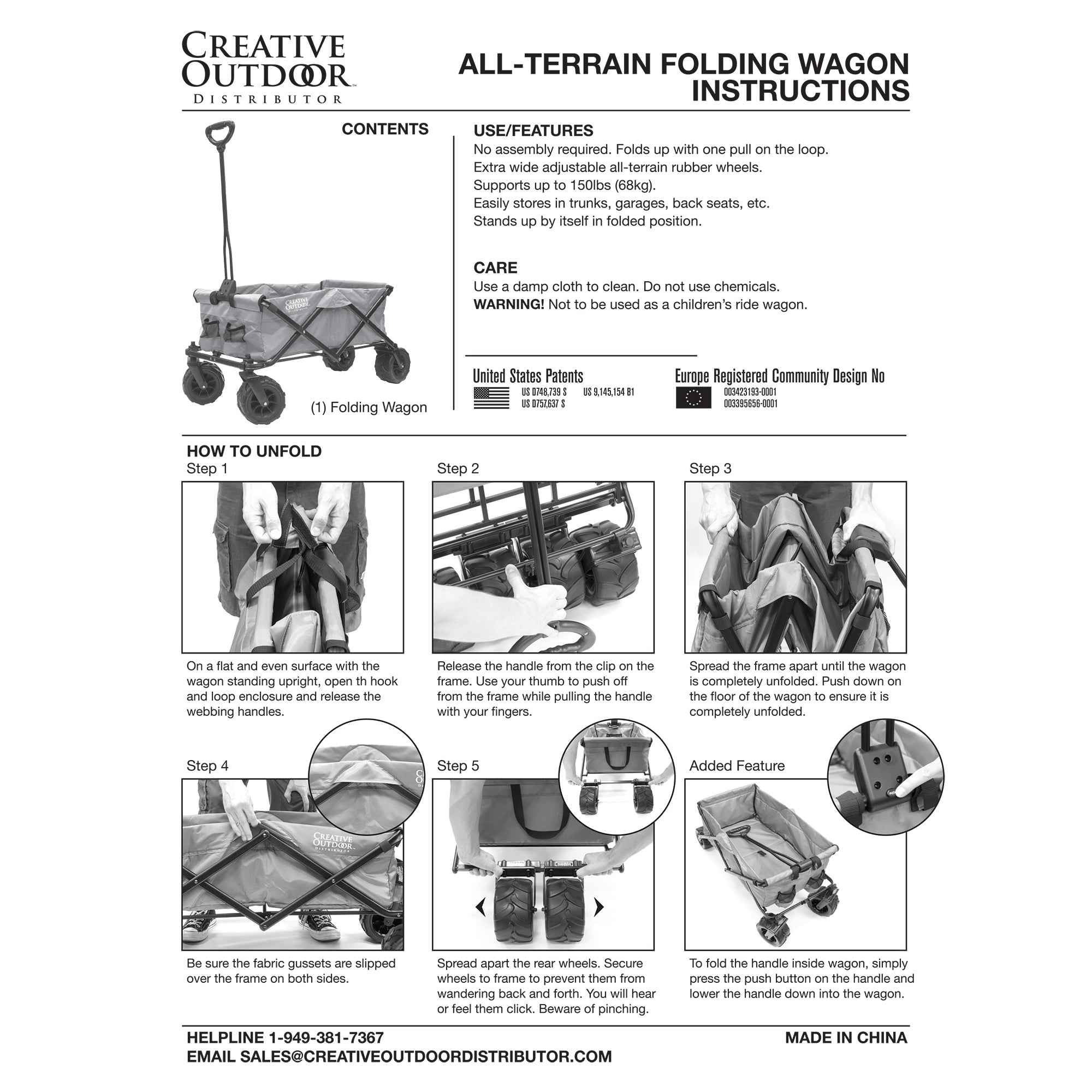 All-Terrain Folding Wagon Instructions