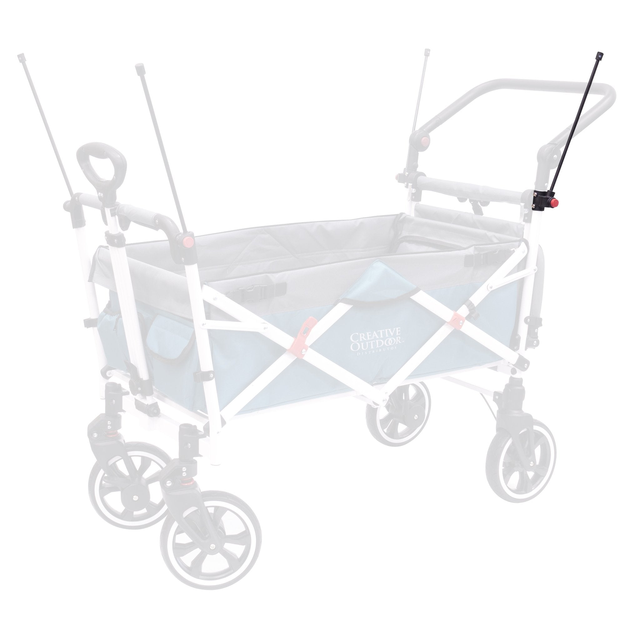 Push Pull Folding Stroller Wagon Canopy Rod Replacement | Rear Left