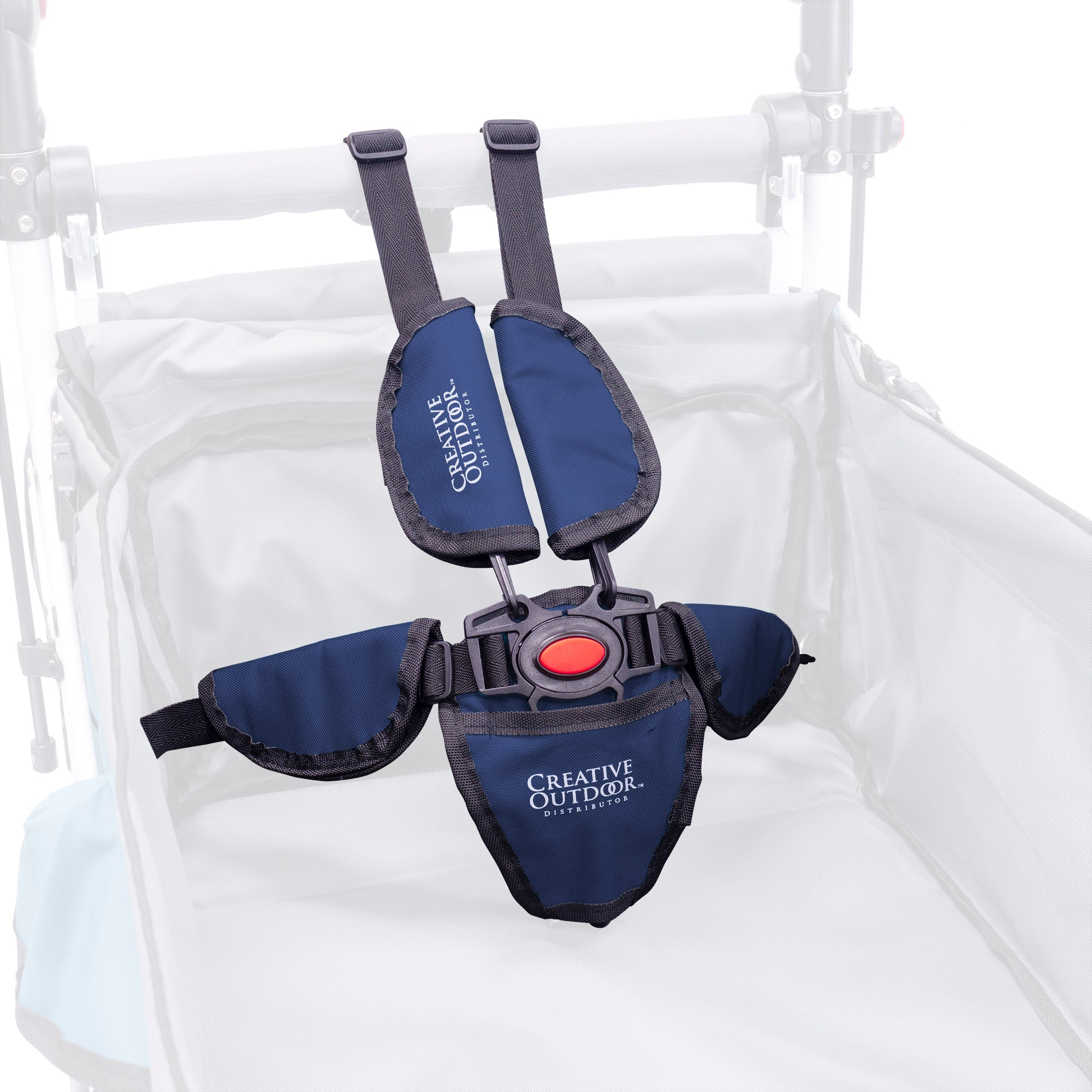 Push Pull Titanium Series 5-Point Safety Harness Seatbelt - Navy