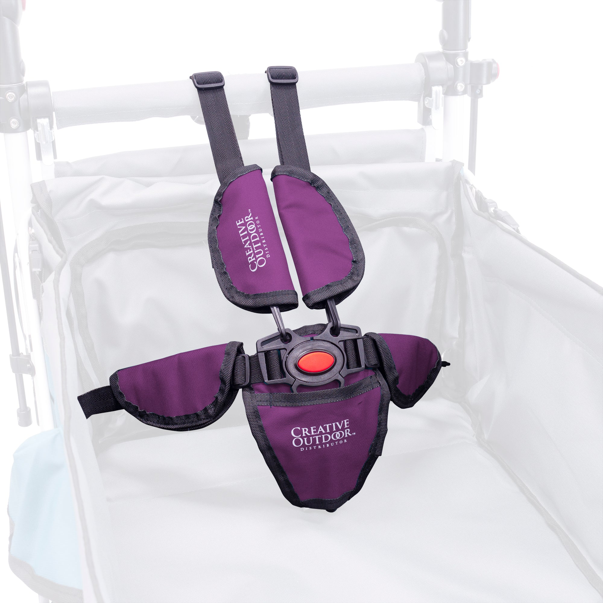 Push Pull Titanium Series 5-Point Safety Harness Seatbelt - Purple