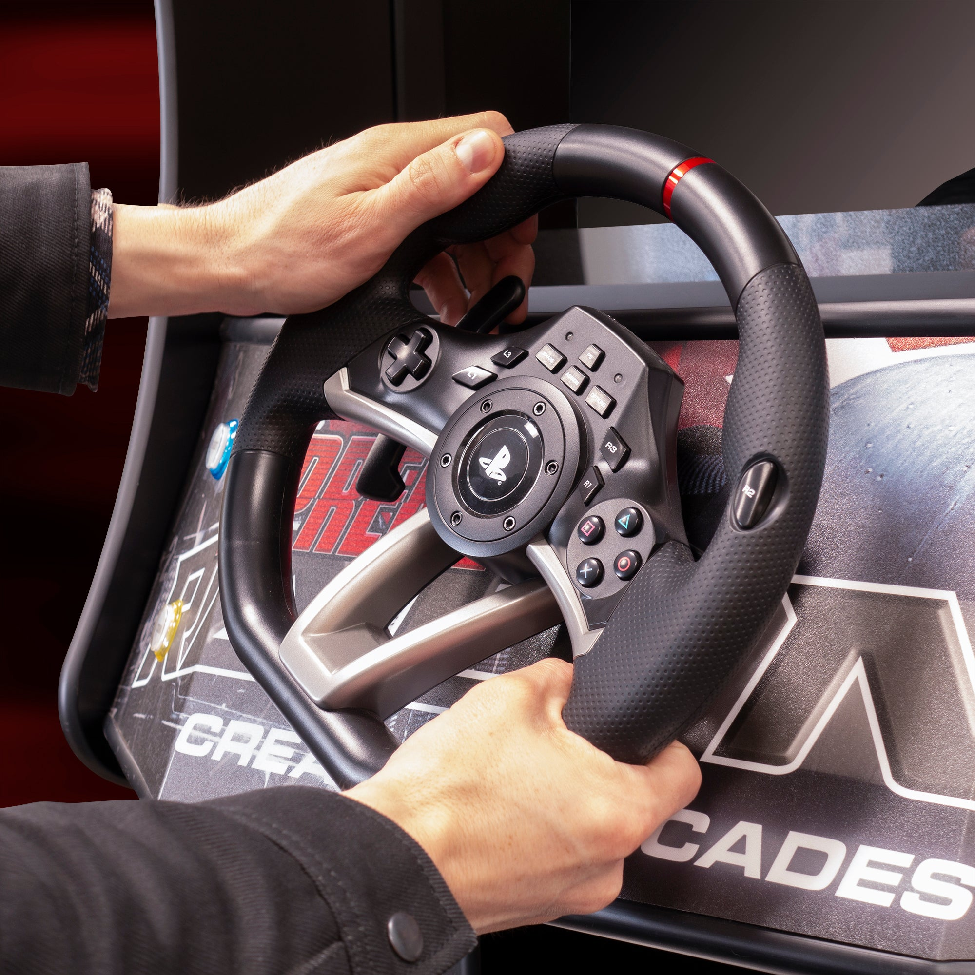 370229 Racing Arcade Machine Steering Wheel