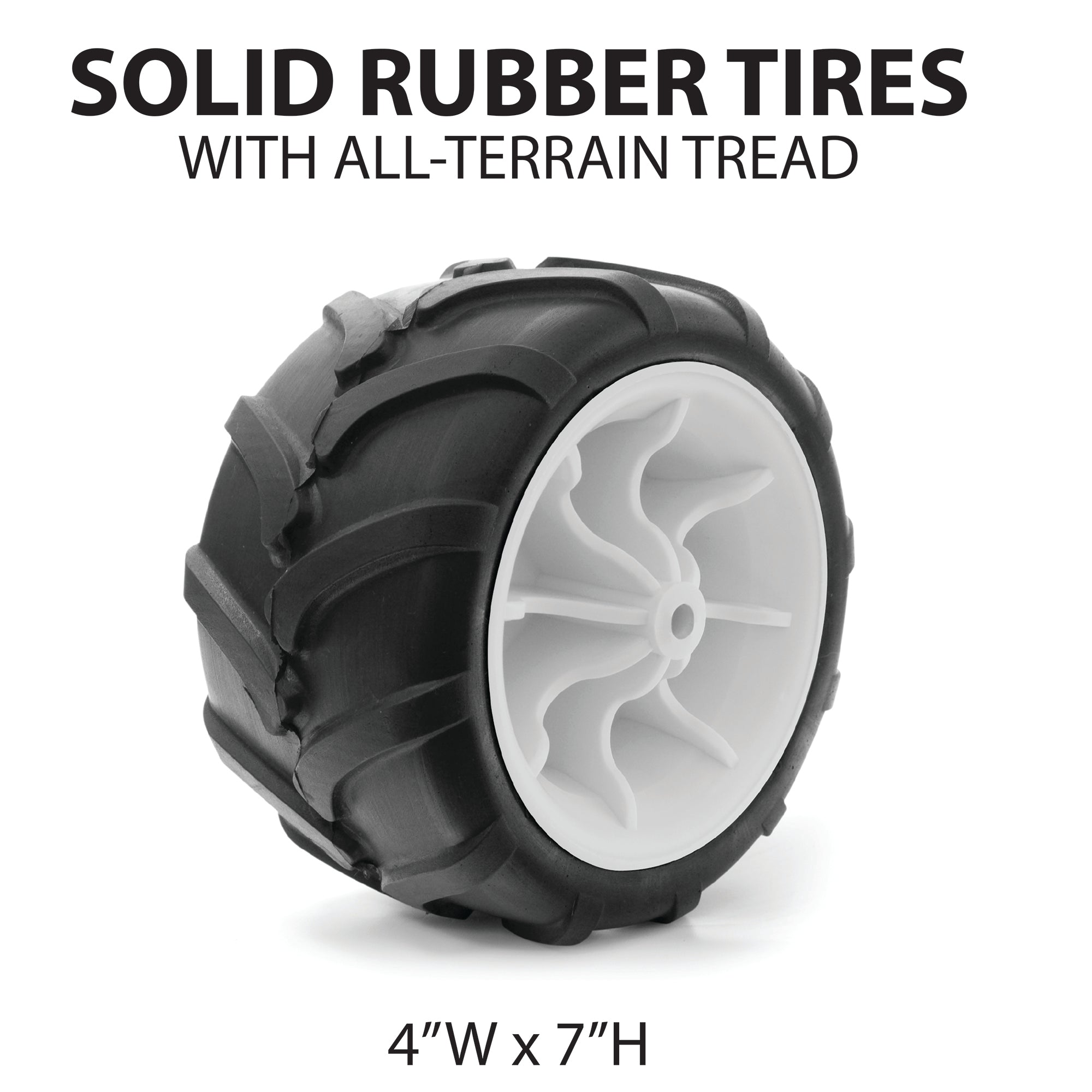 All-Terrain Rubber Wagon Wheels