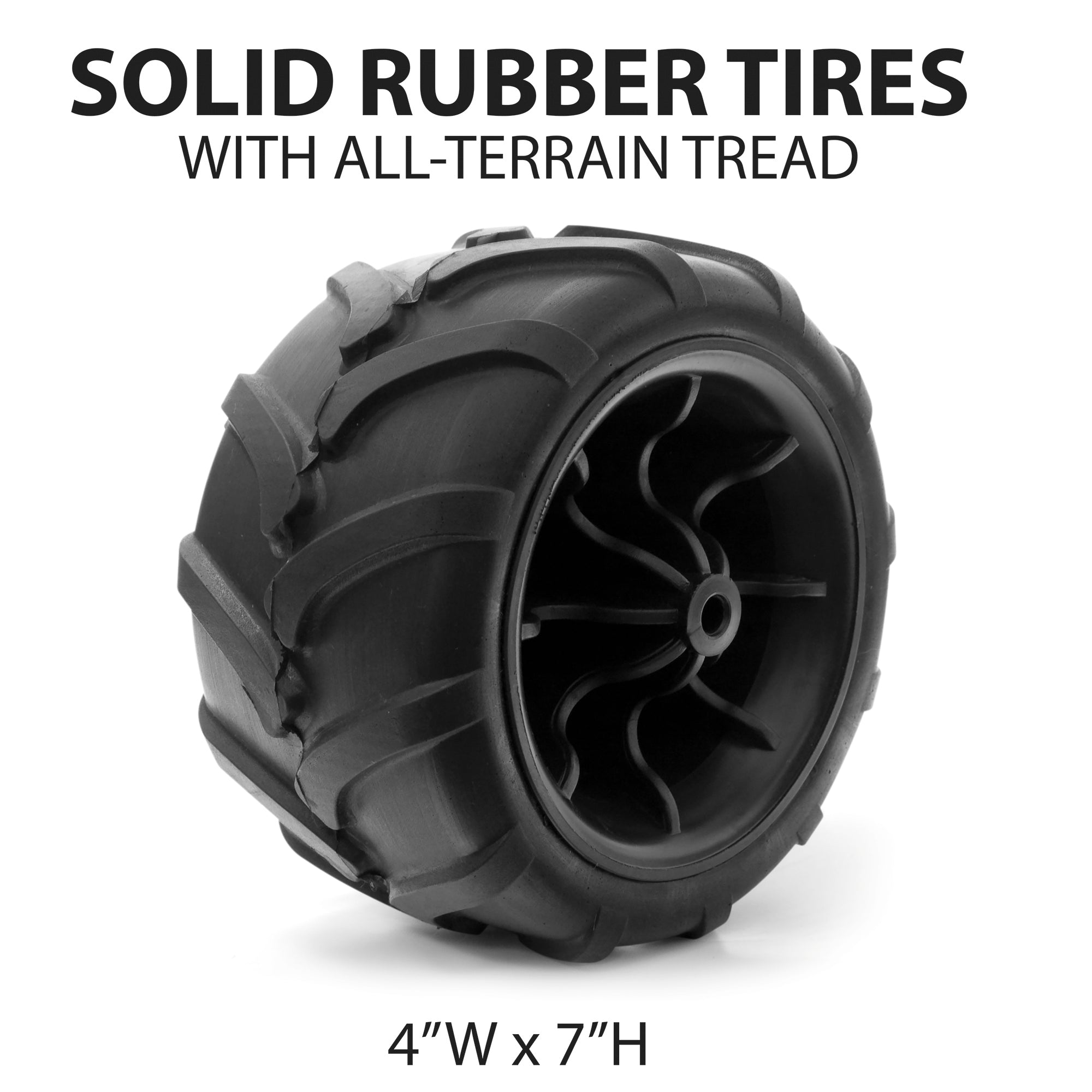 All-Terrain Folding Wagon Wheel Dimensions