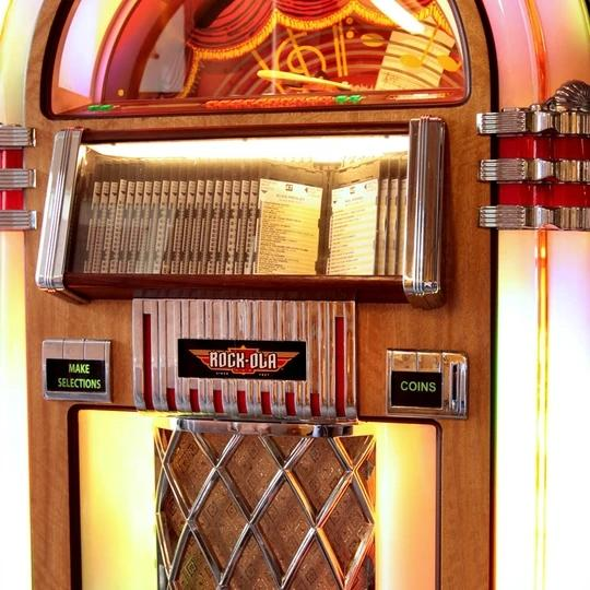 Rock-ola Bubbler CD Jukebox in Light Oak