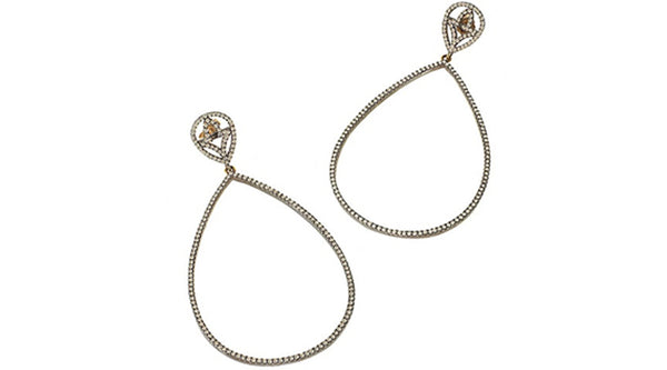 champagne diamond drop earrings catherine angiel
