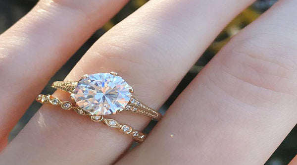 Vintage-inspired modern heirloom catherine angiel engagement rings