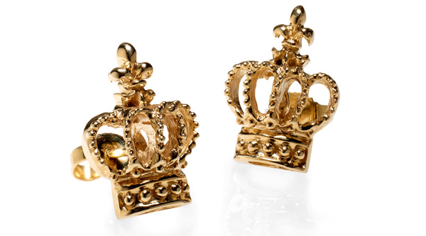 crown stud earring in gold catherine angiel