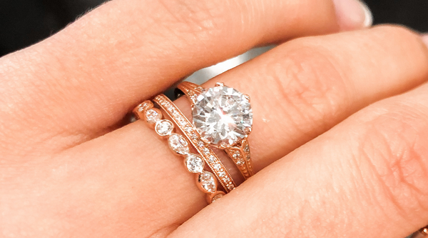 Catherine Angiel Rose Gold Engagement Ring