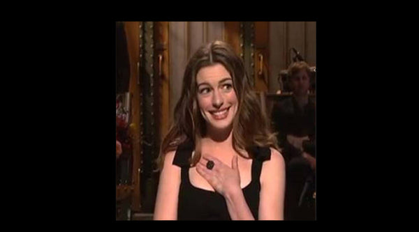 anne hathaway wears catherine angiel ring on saturday night live