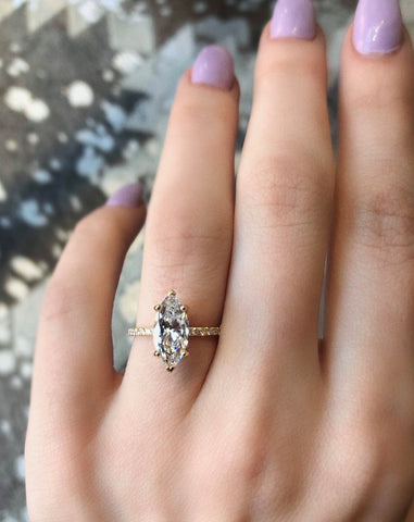Marquis Diamond Solitaire Ring