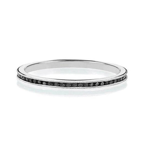 Black Diamond Eternity Wedding Band