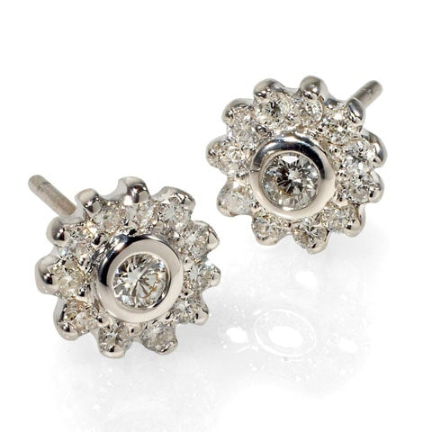 Diamond Cluster Studs by Catherine Angiel