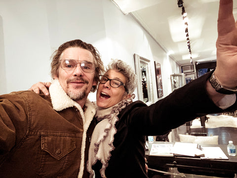 Catherine Angiel with Ethan Hawke