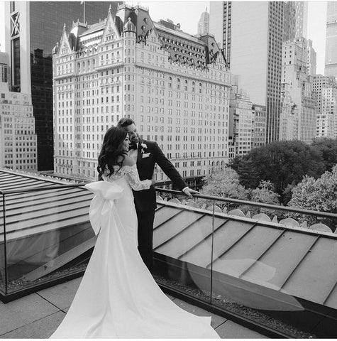 Catherine Angiel couple married on top of the Metropolitan Club NYC