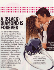 Carrie Bradshaw Black Diamond Engagement Ring