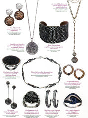 Catherine Angiel jewelry in fashion magazines