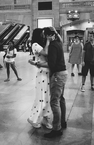 Catherine Angiel couple engaged at Grand Central Station