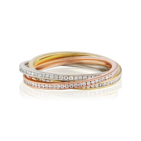 Triple Diamond Rolling Ring
