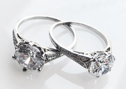 platinum and white gold engagement rings