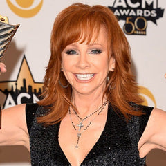 reba mcentire black diamond rosary necklace
