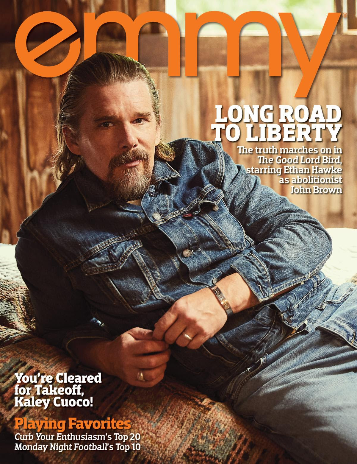 Ethan Hawke Wears Catherine Angiel on the Cover of Emmy Magazine