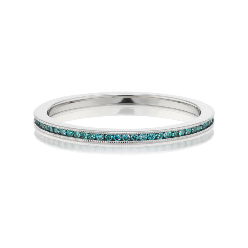 Teal Diamond Eternity Band