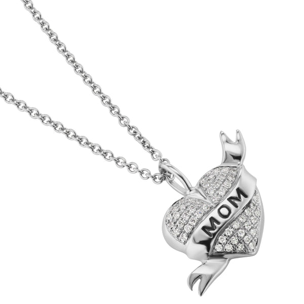 mom tattoo heart pendant