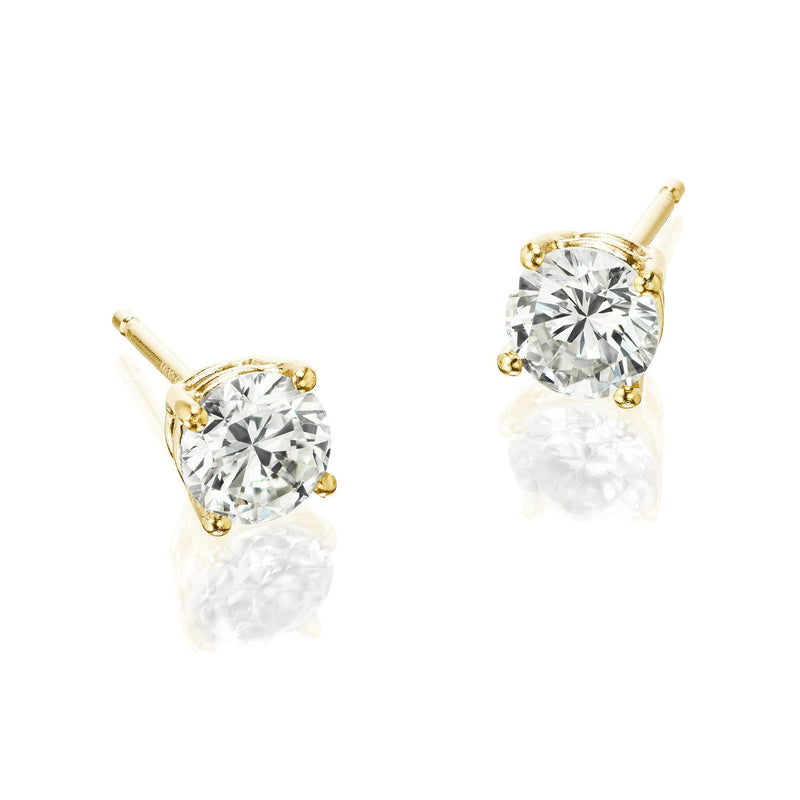 Diamond Studs Yellow Gold