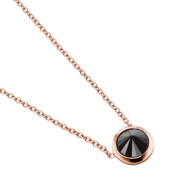 rose gold black diamond necklace