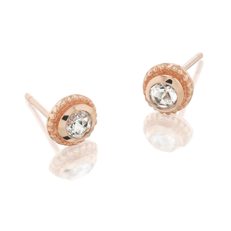 Byzantine Diamond Earrings Rose Gold