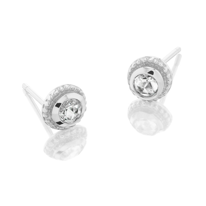 Byzantine Diamond Earrings White Gold