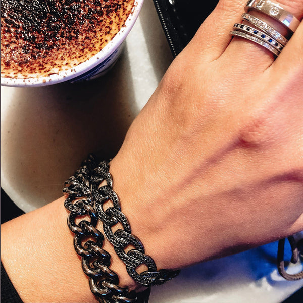 Pave Black Diamond Bracelet