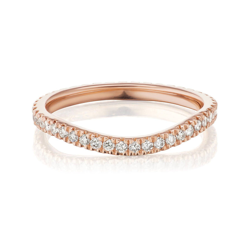 Curved Diamond Nesting Ring