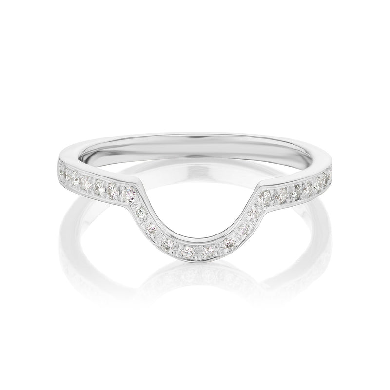 Diamond Nesting Ring White Gold