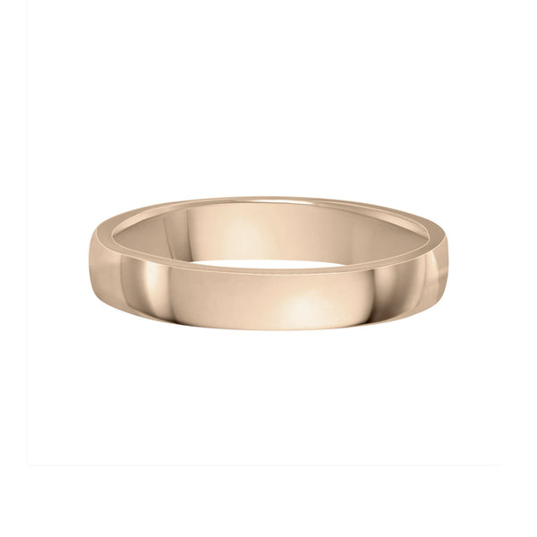 4mm men's wedding band in yellow gold