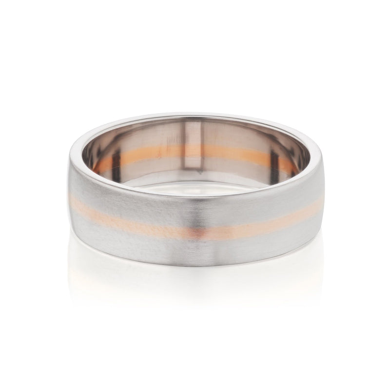 white gold two tone mens wedding band