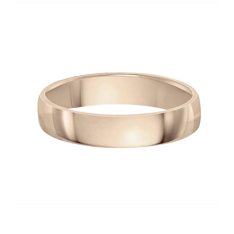 5mm men's wedding band yellow gold