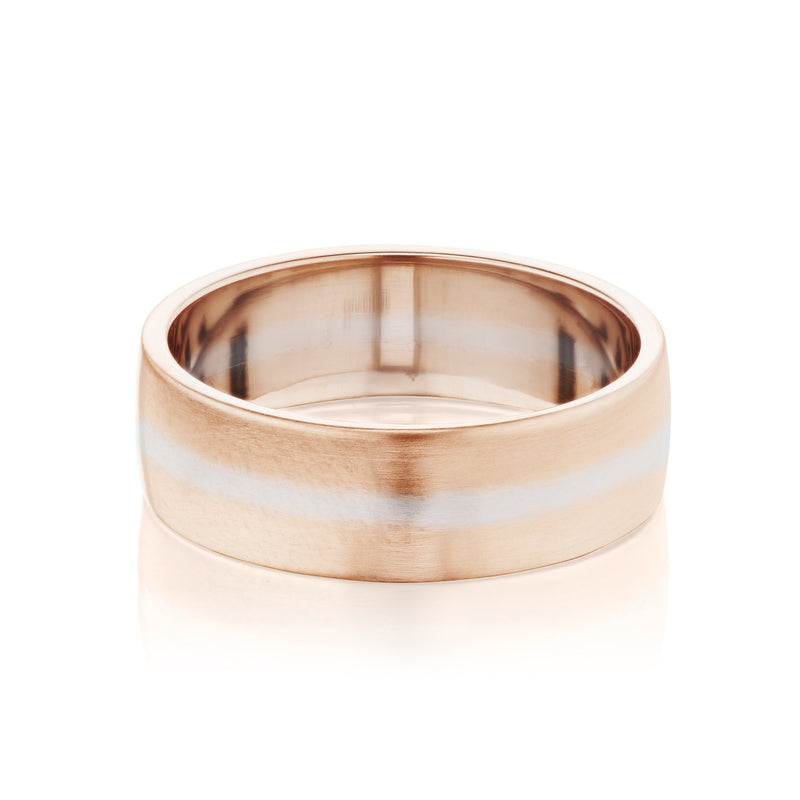 Men's Two Tone Wedding Band