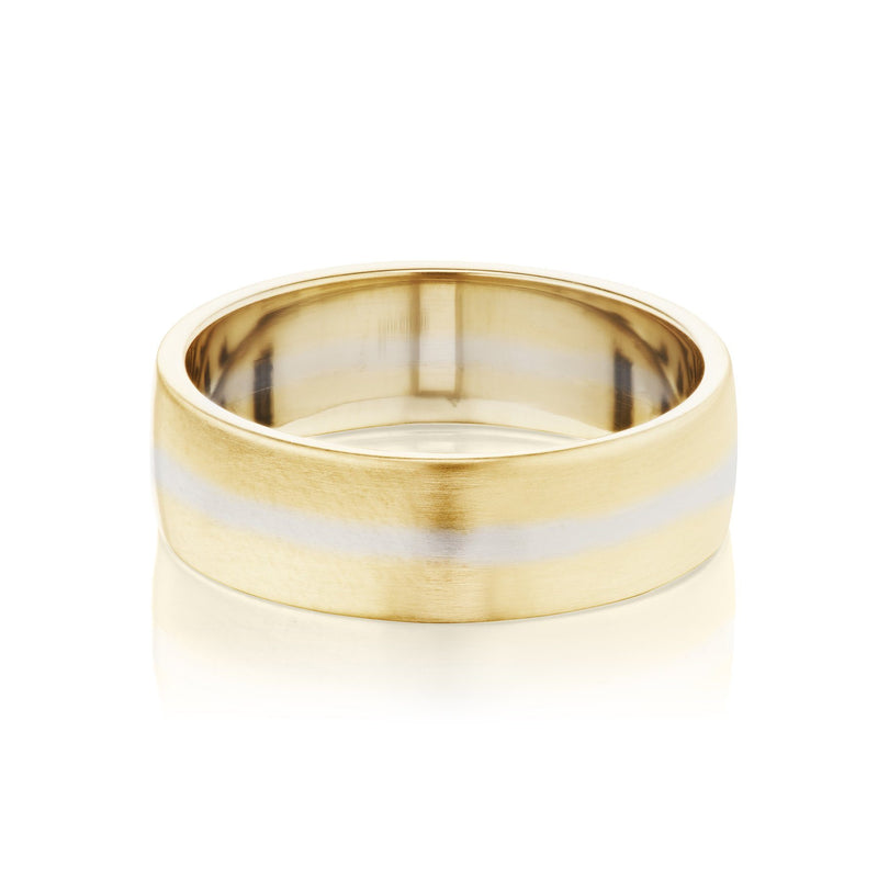 Mixed Metal Wedding Band