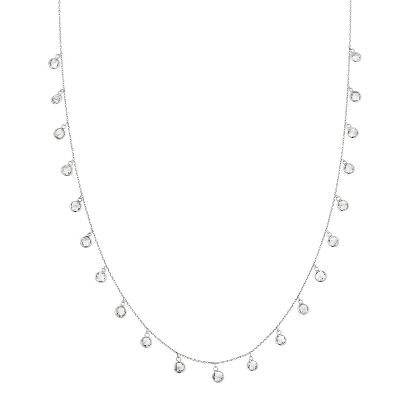 white gold topaz chain