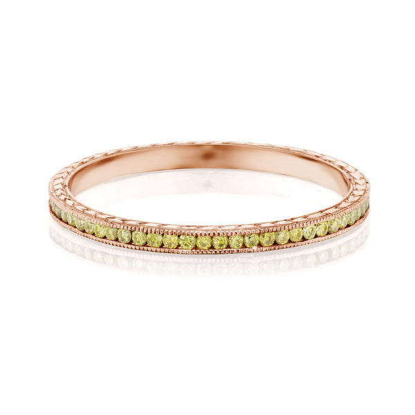 Rose Gold Canary Diamond Band